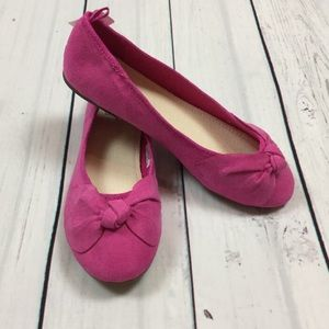 Gap Girls 3 4 5 Pink Faux Suede Slip-On Shoes